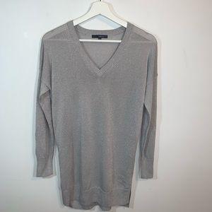 Matty M Small Silver Long Sleeve Sweater